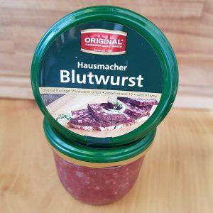 Blutwurst im Glas