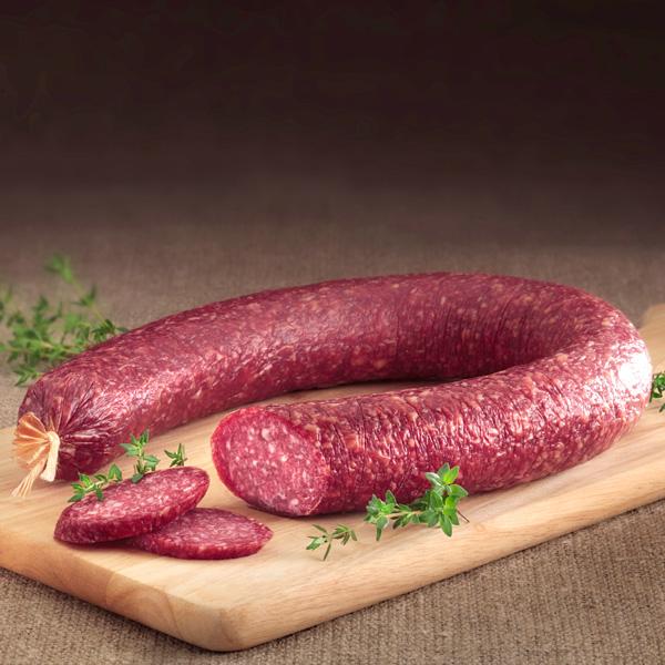 Rindfleischsalami in Ring